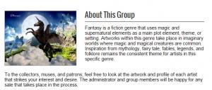 I am a new administrator for the fantasy art group on Fine Arts America